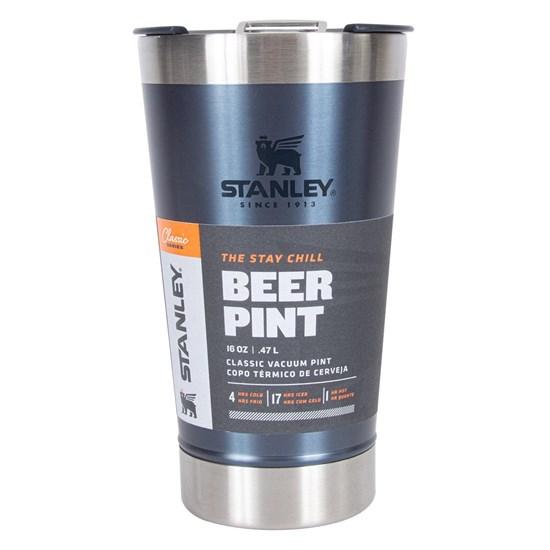 Copo Térmico de Cerveja Stanley 473 ml com Tampa e Abridor de Garrafas Azul
