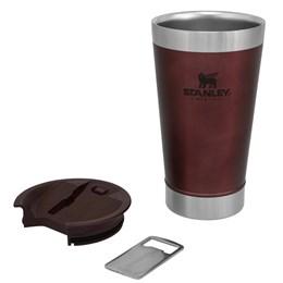 Copo Térmico de Cerveja Stanley 473 ml com Tampa e Abridor de Garrafas Wine