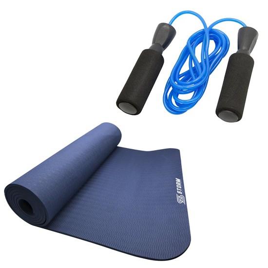 Corda de Pular  2,6 M com Rolamento + Tapete Colchonete para Pilates Zstorm