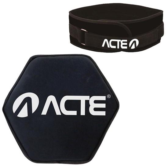 Disco de Peso Acte Sand Bell 12KG + Cinturão Musculação Exercícios com Carga