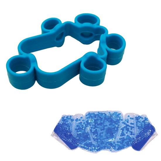 Elástico Extensor Forte para Dedos Liveup + Bolsa Térmica Contusão Relaxmedic
