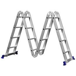 Escada Multifuncional 4x4 16 Degraus em Alumínio - MOR 005132