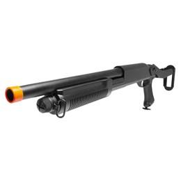 Escopeta Shotgun Airsoft Cyma M870 Preta 220 Fps e Capacidade para 30 BBs