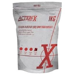 Esfera Plástica BBs Airsoft ActionX 0,30g 3350 Unidades Branco