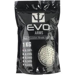 Esfera Plástica BBs Airsoft Evo Arms 0,20g 5000 Unidades Branco