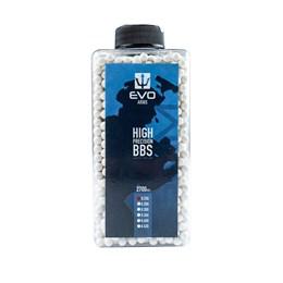 Esfera Plástica BBs Airsoft Evo Arms 0,25g 2700 Unidades Branco