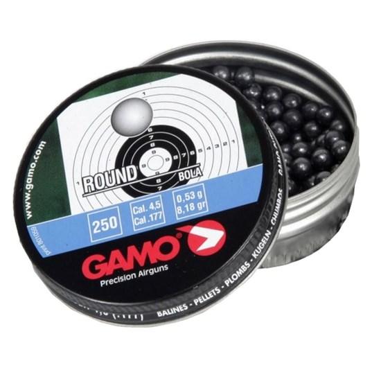 Esferas de Chumbo Gamo Round 250 Unidades Calibre 4.5mm