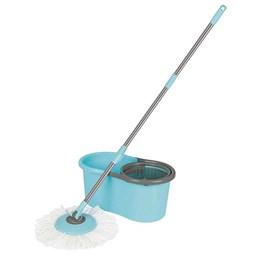 Esfregão Mop Mor Limpeza Prática Turqueza com Balde 13 Litros