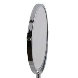 Espelho de Aumento Giratório Dupla Face Inox - MOR 8481