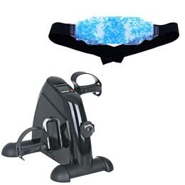 Exercitador de Pernas e Braços Mini Bike + Bolsa Térmica em Gel Acte