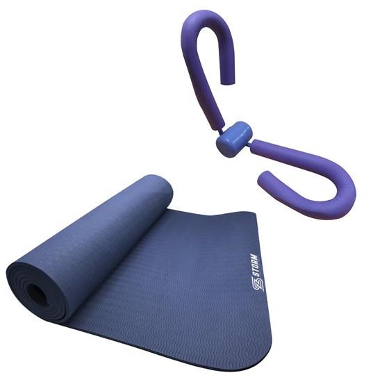 Exercitador para Pernas e Braços ZStorm Roxo + Tapete Colchonete Yoga Mat