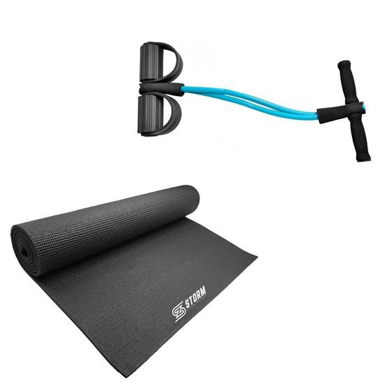 Extensor Elástico Vertical Azul + Tapete Colchonete de Yoga e Pilates ZStorm