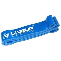 Faixa Elástica em Látex de Alta Intensidade 4,5 cm Super Band Azul - LIVEUP LS3650/4.5