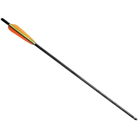 Flecha Fibra de Carbono Especial Cor Grafite Com Ponta Rosqueável Para Arco - Poelang D030B