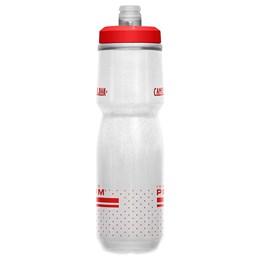 Garrafa CamelBak Podium Chill 710 ml Insulated para Ciclismo Branca e Vermelha