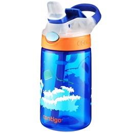 Garrafa Infantil 414 ml Contigo Gizmo Flip Azul com Bico e Canudo Retrátil