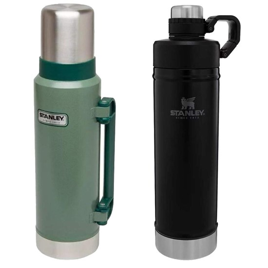 Garrafa Térmica 1,3L Hammertone Green + Garrafa Térmica Stanley 750ml Hydration