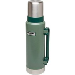 Garrafa Térmica 1L Aço Inox + Garrafa Térmica Stanley 1,3L Hammertone Green