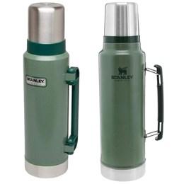 Garrafa Térmica 1L Inox Verde + 1 Garrafa Térmica Stanley 1,3L Hammertone Green