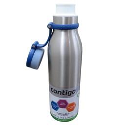 Garrafa Térmica 591 ml Contigo Matterhorn Inox Azul Conserva Quente e Frio