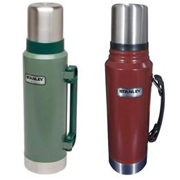 Garrafa Térmica Stanley 1L Inox + Garrafa Térmica Classic 1,3L Hammertone Green