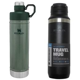 Garrafa Térmica Stanley 750ml Hydration + Garrafa Térmica Switchback 473ml Preta