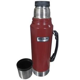 Garrafa Térmica Stanley Classic 1 Litro Aço Inox Vermelha até 24 Horas Gelado