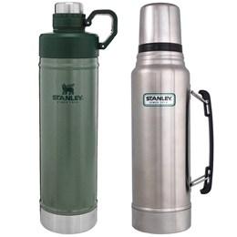 Garrafa Térmica Stanley Classic 1L + Garrafa Térmica 750ml Hydration Verde Inox