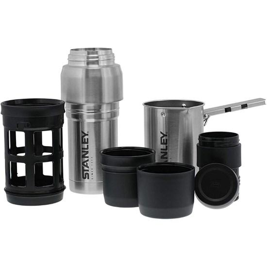 Garrafa Térmica Stanley Coffee System + Mini Panela + French Press + 2 Copos
