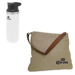 Garrafa Térmica Stanley Switchback 473ml One Hand + Bolsa Multiuso Corona Bag