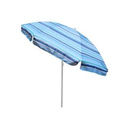 Guarda Sol Articulado Rotony 2,20m em Alumínio Listrado Azul Royal e Azul Piscina