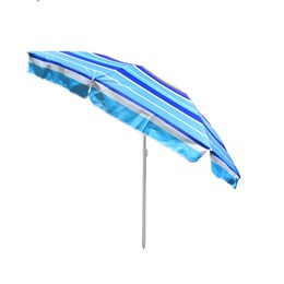 Guarda Sol Articulado Rotony 2,20m em Alumínio Listrado Azul Royal e Roxo