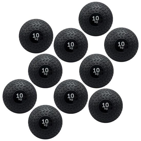 Kit 10 Bolas de Pesos Slam Ball 10 Kg Muscle Zstorm Zs181160