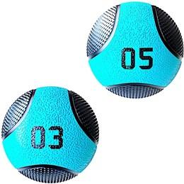 Kit 2 Medicine Ball Liveup PRO 3 e 5 Kg Bola de Peso Treino Funcional LP8112