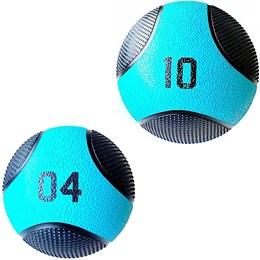 Kit 2 Medicine Ball Liveup PRO 4 e 10 Kg Bola de Peso Treino Funcional LP8112