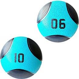 Kit 2 Medicine Ball Liveup PRO 6 e 10 Kg Bola de Peso Treino Funcional LP8112