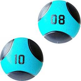 Kit 2 Medicine Ball Liveup PRO 8 e 10 Kg Bola de Peso Treino Funcional LP8112