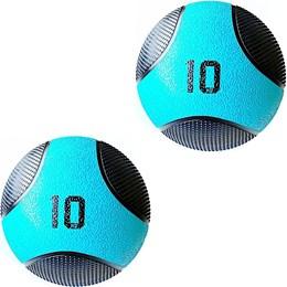 Kit 2 Medicine Ball Liveup PRO F 10 Kg Bola de Peso Treino Funcional LP8112-10
