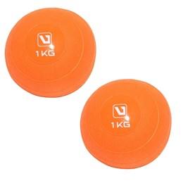 Kit 2 Mini Bolas Peso 1 Kg cada para Exercícios LiveUp LS3003-1