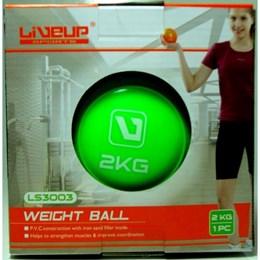 Kit 2 Mini Bolas Peso 2Kg cada para Exercícios LiveUp LS3003-2