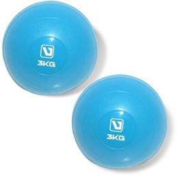 Kit 2 Mini Bolas Peso 3Kg cada para Exercícios LiveUp LS3003-3