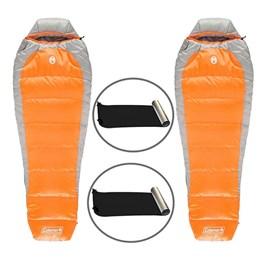 Kit 2 Sacos de Dormir Coleman Silverton + 2 Isolantes Térmicos E.V.A. Aluminizado Nautika