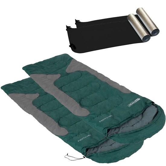KIt 2 Sacos de Dormir Freedom + 2 Isolantes Térmicos Aluminizado Nautika