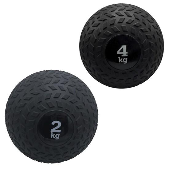 Kit 2 Slam Ball Bola de Peso 2 e 4 kg ZStorm para Crossfit Preto