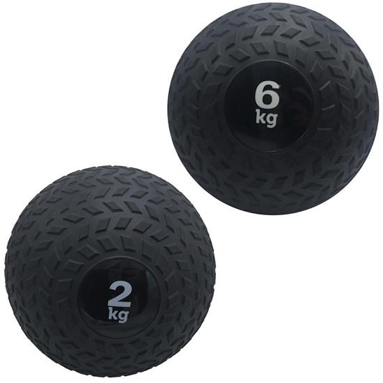 Kit 2 Slam Ball Bola de Peso 2 e 6 kg ZStorm para Crossfit Preto