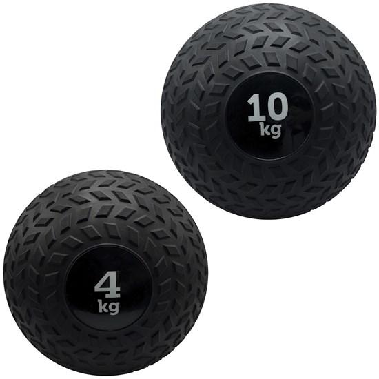 Kit 2 Slam Ball Bola de Peso 4 e 10 kg ZStorm para Crossfit Preto