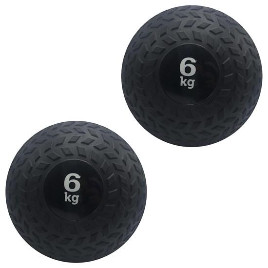 Kit 2 Slam Ball Bola de Peso 6 kg ZStorm para Crossfit Preto