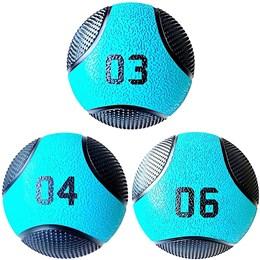 Kit 3 Medicine Ball Liveup PRO 3 4 e 6 kg Bola de Peso Treino Funcional LP8112
