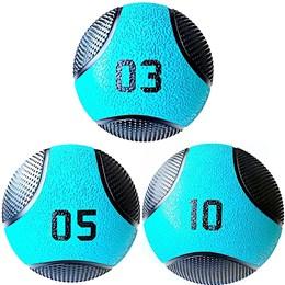 Kit 3 Medicine Ball Liveup PRO 3 5 e 10 kg Bola de Peso Treino Funcional LP8112