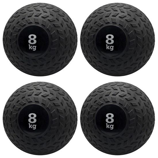 Kit 4 Bolas de Pesos Slam Ball 8 Kg Muscle Zstorm Zs181159